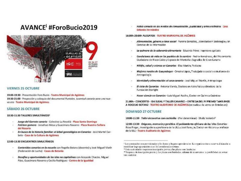 Avance #ForoBucio2019 bien